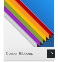 Web Corner Ribbons
